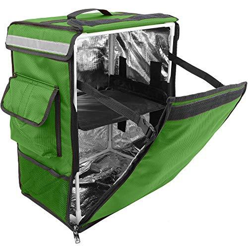 PrimeMatik - Mochila isotérmica 35 x 49 x 25 cm Verde para Comidas al Aire Libre y Entrega de Pedidos de Comida en Moto o Bicicleta