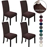 NORTHERN BROTHERS Dining Chair Covers Stretch Chair Covers Parsons Chair Slipcover Chair Covers for Dining Room Set of 4,Chocolate