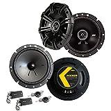 Kicker Front/Heck 16,5cm/165mm Auto Lautsprecher/Boxen/Speaker Komplett-Set kompatibel für Ford