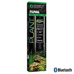 Bluetooth-controlled LED light for aquatic plants Specially designed to maintain a thriving live plant aquarium The lamp's adjustable arms fit aquariums between 24 and 34 inches wide Features independent color control and optional pre-set habitat lig...