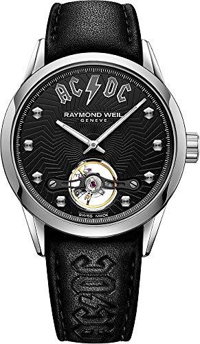 Reloj Automático Raymond Weil Freelancer AC/DC Limited Edition, 42 mm, Negro