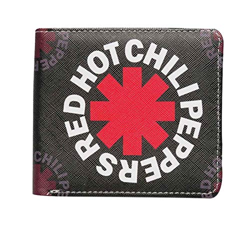 Red Hot Chili Peppers Brieftasche Asterisk Band Logo Nue offiziell Schwarz