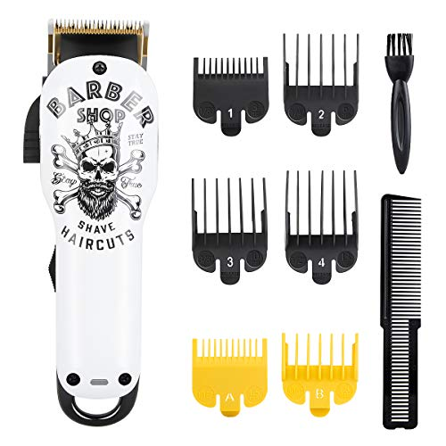 Audoc Professional Cordless Hair Clipper for Men Hair Haircuttings Kit Mustache Body Grooming Kit with USB Rechargeable Hair Beard Trimmer...
