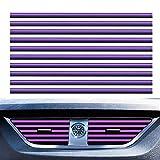 YAOJOE 10 Pcs PVC Car Air Conditioner Vent Outlet Trim Strip DIY Decoration U Shape Moulding Trim Strip Line Car Shiny Accessories(Purple)