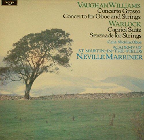 "Vaughan Williams - Concerto Grosso - Warlock: Capriol Suite - 12"" vinyl LP - UK Argo ZRG 881 Marriner ASMF"