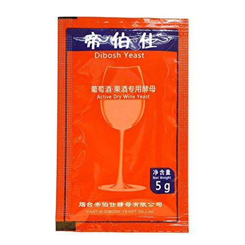 Qianele - Lievito di vino per la casa, per la brewing, aromyces Cerevisiae, 5 g, per 25 kg di alcool Active Dry Yeast Liquor Maker