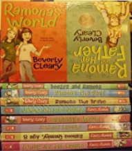 Beverly Cleary 8 book Ramona set: Beezus and Ramona, Ramona the Pest, Ramona the Brave, Ramona and Her Father, Ramona and ...