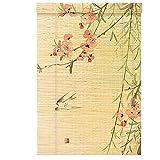 Estor enrollable YXX Cocina del apagón de la Ventana de persianas de Rodillo, Home Office Depot Sombras de Sun - Hecho de bambú, el 75/85/95/105/125/135 cm Ancho (Size : 135x205cm)