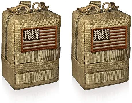 WYNEX 2 Pack Molle Pouches Tactical EDC Utility Pouch Compact Water Resistant Organize Small product image