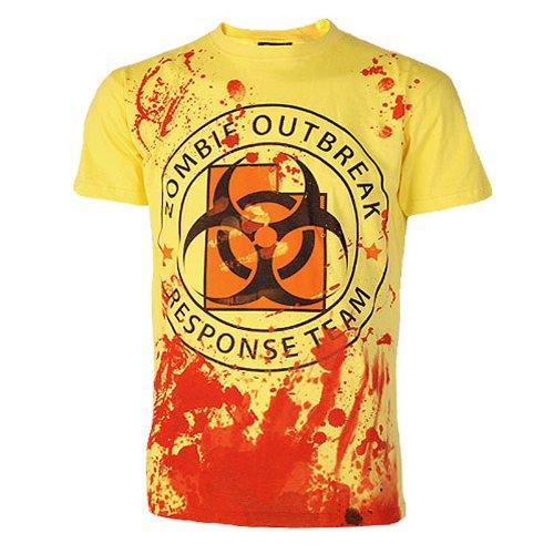 Darkside – Zombie Outbreak Response Team T-Shirt, gelb, Grösse M