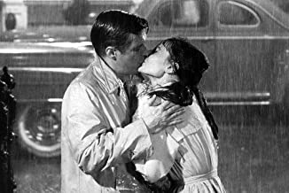 Audrey Hepburn George Peppard Breakfast at Tiffany's Kiss In Rain Rare 24X36 Poster