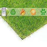 BUNDMAN Hierba Artificial Estera Alfombra de Hierba Exterior Interior Jardín de Césped Falso para Mascotas Perros vendidos Altura de la Pila 30 mm,24'×18'