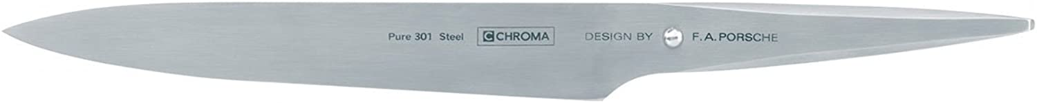 Chroma 5019311910910 Type 301 Designed by F.A. Porsche 8 inch Carving Knife, one size, silver