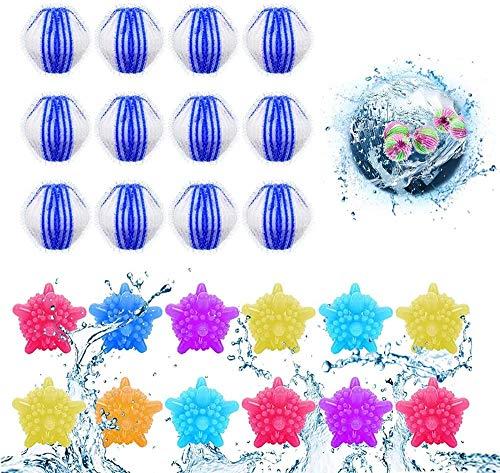 Tierhaarentferner Waschmaschine,12pcs Waschkugeln 12 pcs Fusselbälle,Waschkugel Flusenentferner,Wäscherei Bälle,Mini-Waschbälle,Waschbälle für katzenhaarentferner waschmaschine (24PCS)