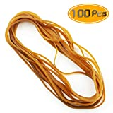 Weoxpr 100 Pcs 8' Large Rubber Bands Trash Can Band Elastic Bands for Office Supply, Trash Can, File Folders, Cat Litter Box