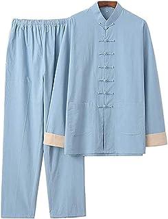 FMOGQ Tai Chi odzież mężczyźni kobiety chłopcy panie niebieski, tradycyjny chiński sporty walki skrzydło chun boks karate ...