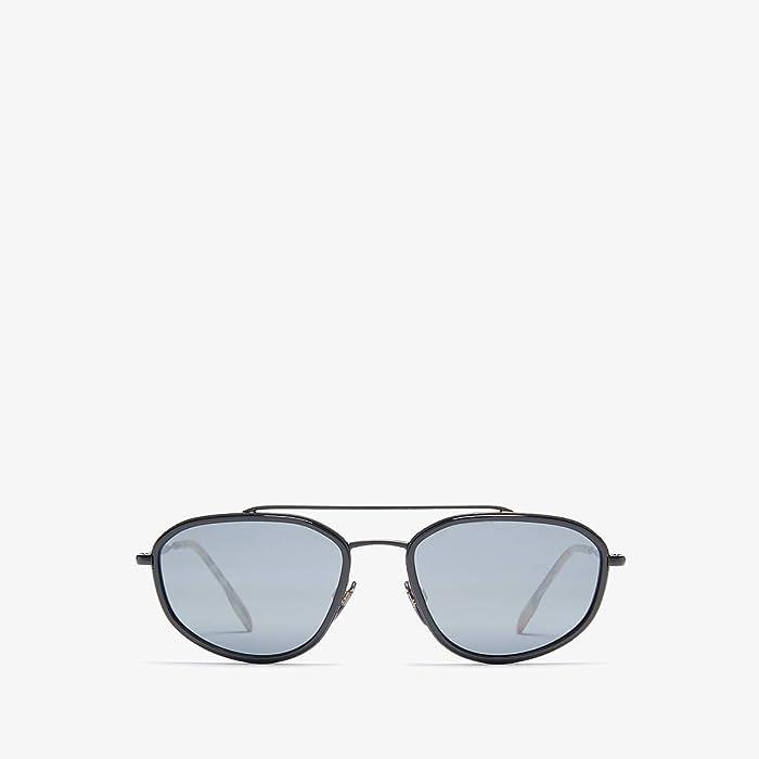 Burberry  0BE3106 (Matte Black/Light Grey Mirror Black) Fashion Sunglasses