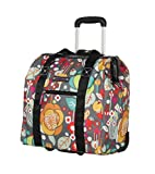 Lily Bloom Design Pattern Carry on Bag Wheeled Cabin Tote (Bliss)