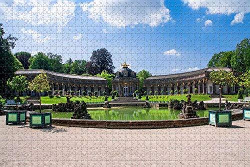 Puzzle für Erwachsene Bayreuth Castle Deutschland Puzzle 1000 Stück hölzernes Reisegeschenk Geschenk