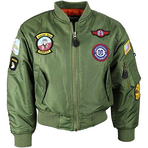 Kombat UK MA1 Flight Jacket für Kinder L olivgrün