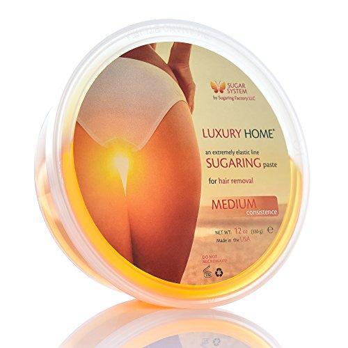 Sugaring Paste 'Luxury HOME' – MEDIUM all purpose paste - Organic Hair Removal - Long Lasting Sugar Wax