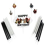 amscan 9903084 - Juego de velas de cumpleaños con diseño de Star Wars, 17 unidades