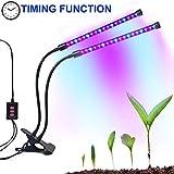Dual-lamp Grow Light Autien 36LEDs 4 Levels 3 Modes Timing(3H/6H/12H)...