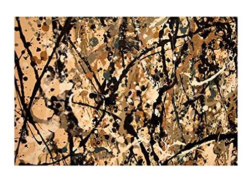 Vestido de novia de Jackson Pollock Cuadro en Lienzo | Lienzos Decorativos | Cuadros Decoración Dormitorios | Cuadros Decoración Salón | Cuadros y láminas (50x70cm (20x38inch), Sin Marco)