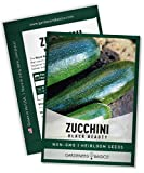 🏅 TRUSTED VARIETY - Popular summer squash seeds used by gardeners for years. Black beauty zucchini seed produces beautiful dark green zucchini. 🙌 PROLIFIC - Black beauty zucchini plants are very prolific and will produce much zucchini. The more you p...