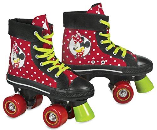 Minnie Mouse Mädchen Rollschuhe Minnie, Schwarz/Rot, 38