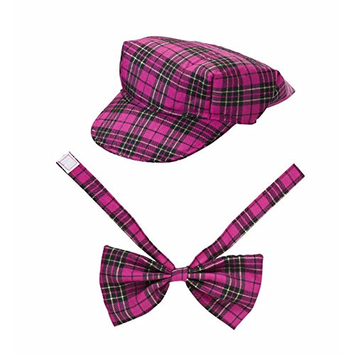 Roze Tartan Hoed & Boog Tie Hoed Hoofddeksels Accessoire voor Schotland Schotse St Andrew's & Hogmanay Fancy Dress Up Kostuums & Outfits
