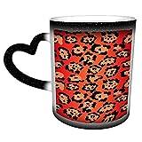 Patrón sin costuras Fondo de textura de leopardo rojo Taza de café Taza de té de cerámica Regalo perfecto para familiares y amigos 11 oz