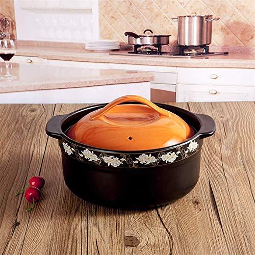 Pentola per zuppa Casseruola in ceramica antiaderente Piatto di casseruola coperto con coperchio, flower pattern Stockpot pentola di terracotta di terracotta da cipolla zuppa di zuppa di zuppa di zupp