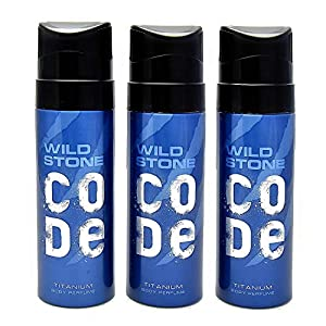 Wild Stone Code Titanium Body Perfume SprayCombo forMen, Pack of 3 (120ml each)