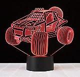 Boutiquespace Rennwagen 3D LED Nachtlicht Tisch Schreibtischlampen 7 Farben Touch Tisch Schreibtischlampe Schlafzimmer dekoriert Nachtbeleuchtung Kindergeburtstag Weihnachtsgeschenk