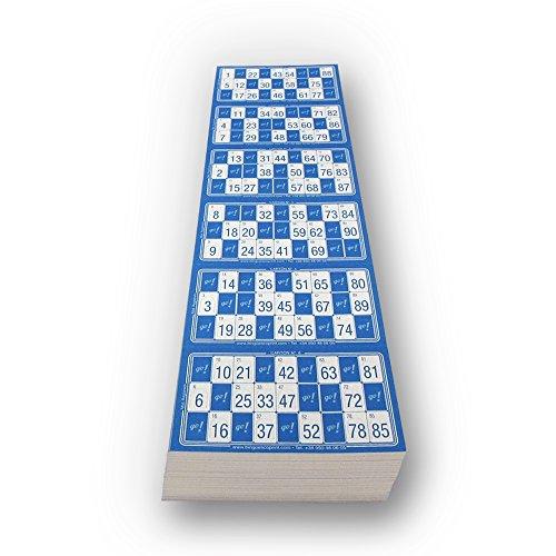 Escobar Impresores Cartones de Bingo troquelados (Azul)