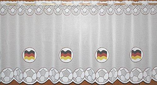 Fußball WM 2018 Fanartikel Gardine Deutschland Flagge Scheibengardine - HxB 52x160 cm …auspacken, aufhänge, fertig! - Panneaux Vorhang Fussball Weltmeisterschaft Typ79