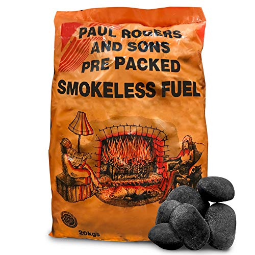 The Chemical Hut Smokeless Ovals Coal - Perfect for Open Fires, Multi-Fuel stoves & Cookers (20kg)