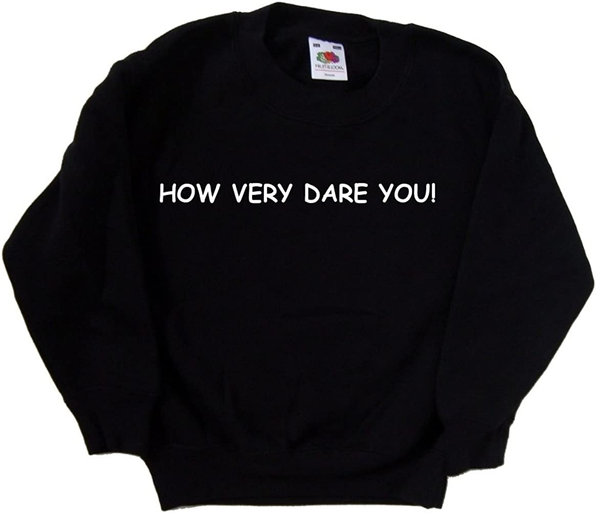 How Very Direct stock discount Dare You Black Sweatshirt Kids Shipping included