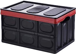 SMEJS Ensemble de bacs de Rangement, boîte de Rangement Pliable Cube avec couvercles et poignées Organisateur de Corbeille...