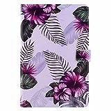 Miagon Tablet Coque Cover pour iPad Mini 1/2/3/4/5 {7.9'},PU Cuir Flip Portefeuille Case avec Veille/Réveil Automatique Fonction de Support,Violet Fleur
