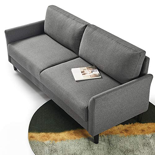 ZINUS Jackie Sofa Couch / Easy, Tool-Free Assembly, Dark Grey