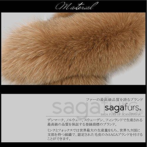 日本製 SAGA フォックス ファー マフラー クリップ付(FF4010)モカブラウン