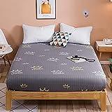 BOLO Juego de sábanas de 1 pieza de 100% algodón egipcio de calidad de hotel, extra profundo, con falda totalmente elástica, 150 x 200 + 25 cm