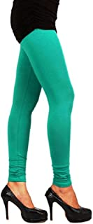 Beautiful Rama Green Churidar Leggings and Dupatta Set