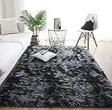 Alfombras de Interior Modernas Ultra Suaves, alfombras mullidas para Sala de Estar, adecuadas para el Dormitorio de los niños, decoración del hogar, alfombras de guardería (Gris Oscuro, 60 x 160 cm)