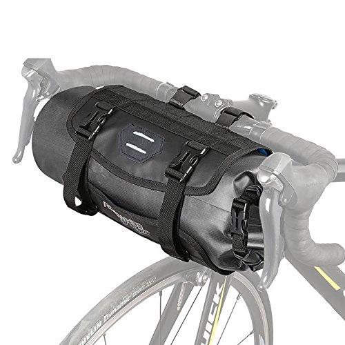 GWJ Handlebar Storage Bike Bag Pannier, Grote capaciteit, Waterdicht, Open Terug En Reflecterende Tekenen Op Onderrug, Fiets Off-Road Organizer