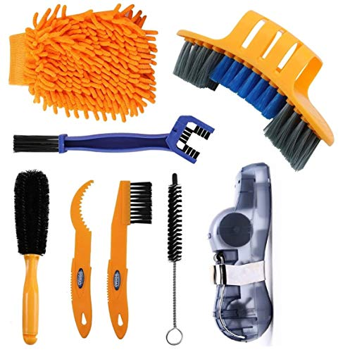Anndason 2020 Latest Precision Bicycle Cleaning Brush Tool Suitable for Mountain, Road, City, Hybrid,BMX Bike and Folding Bike (Style 4)