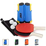 GSE Games & Sports Expert Anywhere Portable Ping Pong Table Tennis Set to Go - Includes Retractable Net &...
