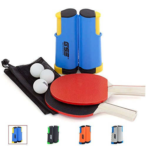 Great Features Of GSE Games & Sports Expert Anywhere Portable Ping Pong Table Tennis Set to Go - Inc...